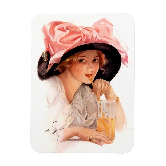 Harrison Fisher: Refreshment Rectangular Photo Magnet