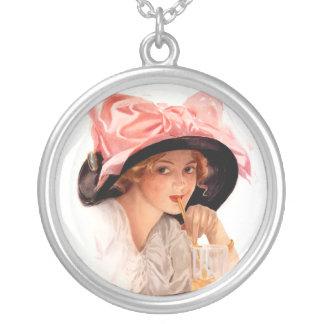 Harrison Fisher: Refreshment Round Pendant Necklace