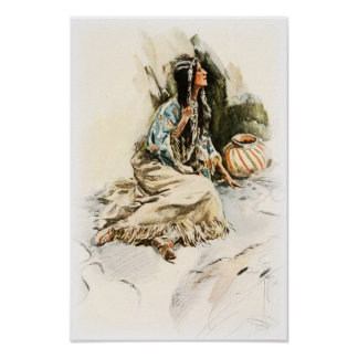 Harrison Fisher Song Hiawatha Red Indian Squaw 1 Poster