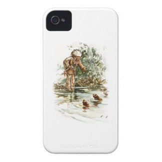 Harrison Fisher Song of Hiawatha Red Indian Otters iPhone 4 Case