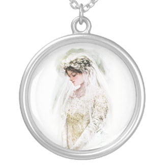 Harrison Fisher: The Bride Round Pendant Necklace