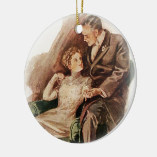 Harrison Fisher Their Heart's Desire You're Sweet Christmas Ornament