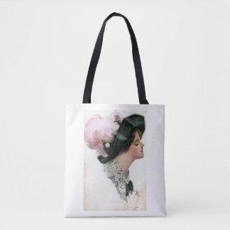 Harrison Fisher Vintage Woman Tote Bag