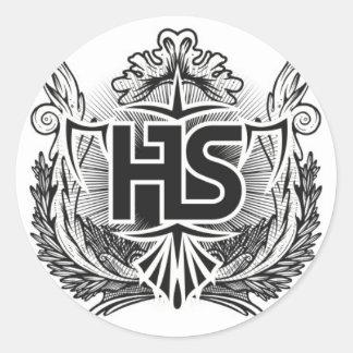 harrison shaws merch classic round sticker