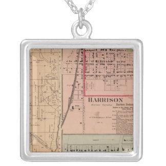 Harrison Township, Ohio Square Pendant Necklace