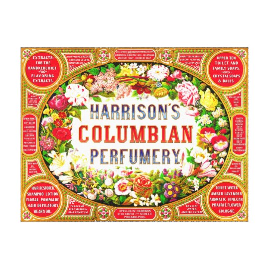 Harrison's Columbian Perfumery 1854 Canvas Print
