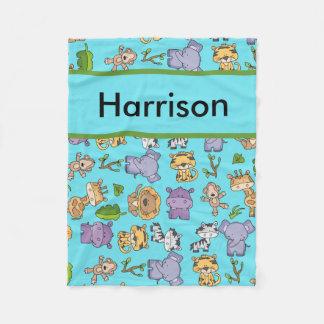 Harrison's Personalized Jungle Blanket