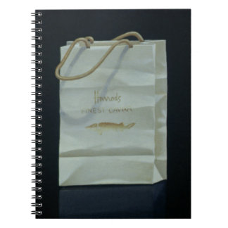 Harrods Caviar Bag 1989 Spiral Note Book