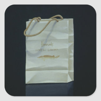 Harrods Caviar Bag 1989 Square Sticker