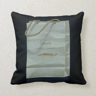 Harrods Caviar Bag 1989 Throw Pillow