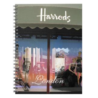 Harrods London Note Book
