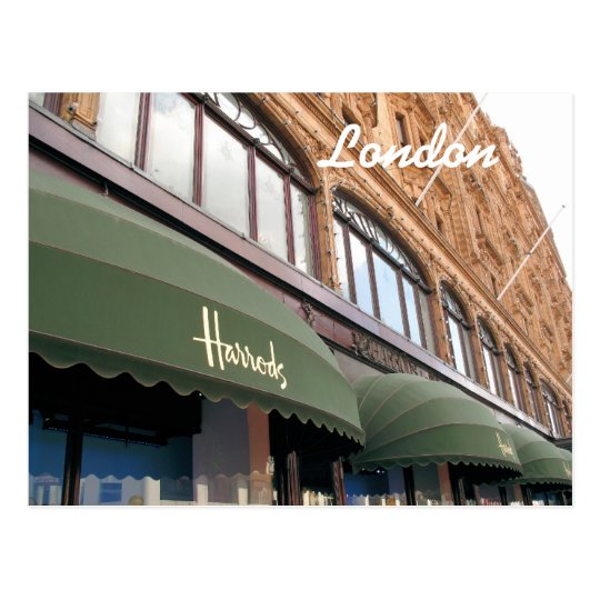 Harrods London postcard