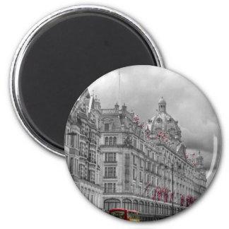 Harrods of Knightsbridge bw hdr 6 Cm Round Magnet