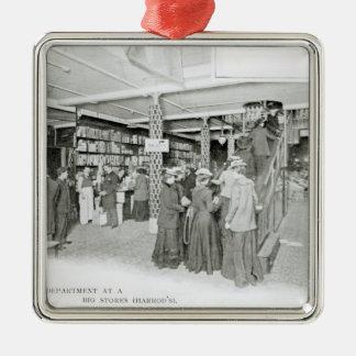 Harrods Provision Department, c.1901 Silver-Colored Square Decoration