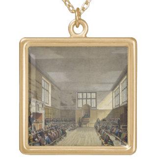 Harrow School Room from 'History of Harrow School' Gold Plated Necklace