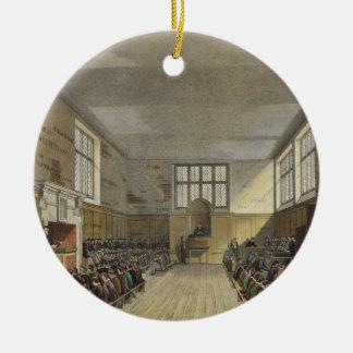 Harrow School Room from 'History of Harrow School' Round Ceramic Decoration