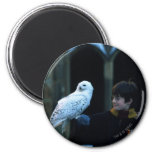 Harry and Hedwig 2 6 Cm Round Magnet