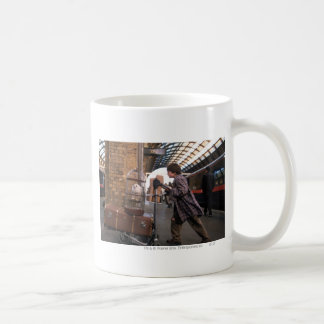 Harry and Hedwig Platform 9 3/4 Classic White Coffee Mug