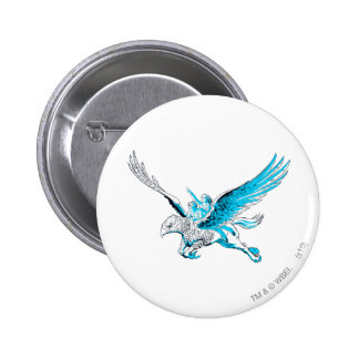 Harry and Hermione on a Hippogriff 6 Cm Round Badge