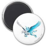 Harry and Hermione on a Hippogriff 6 Cm Round Magnet