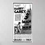 Harry Carey 1922 vintage movie ad poster