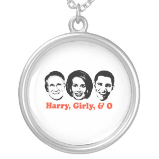 Harry, Girly, and O red Round Pendant Necklace