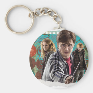 Harry, Hermione, and Ron 1 Basic Round Button Key Ring