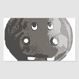 Harry Hippo Rectangular Sticker