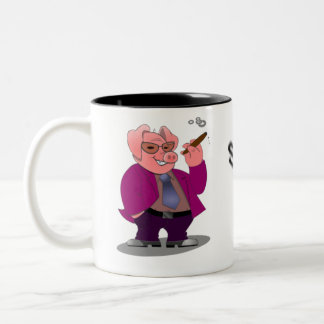 Harry Hog Smokin on a mug