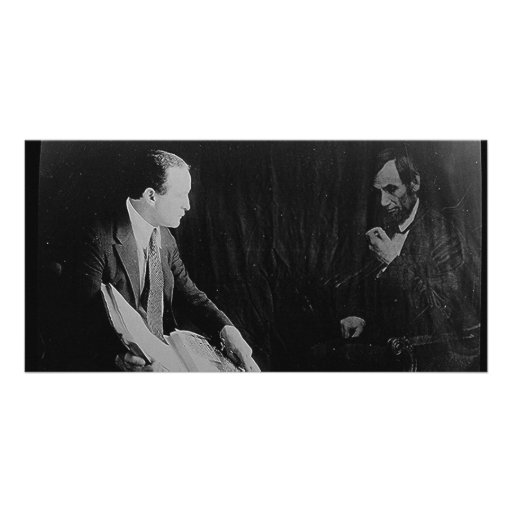 Harry Houdini and the Ghost of Abraham Lincoln Customized Photo Card