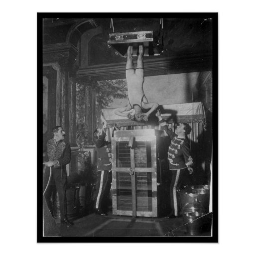 Harry HOUDINI Escape Artist Water Torture Poster