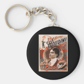 Harry Houdini King Of Cards Basic Round Button Key Ring