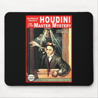 Harry Houdini Pulp Fiction Style Illustration Mouse Pad