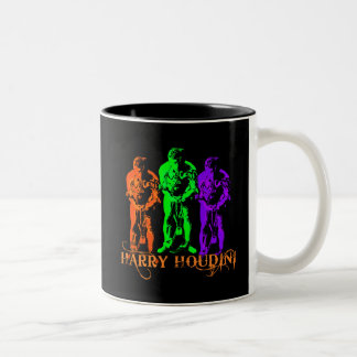 Harry Houdini Triple Image Coffee Mugs