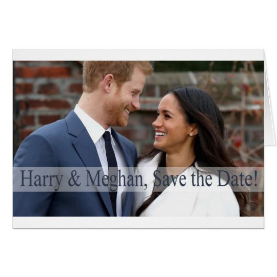 Harry & Meghan, Save the Date! Card