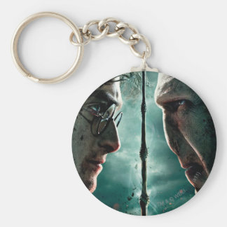 Harry Potter 7 Part 2 - Harry vs. Voldemort Basic Round Button Key Ring