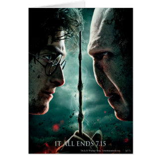 Harry Potter 7 Part 2 - Harry vs. Voldemort Greeting Card