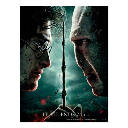 Harry Potter 7 Part 2 - Harry vs. Voldemort Postcards