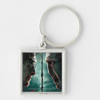 Harry Potter 7 Part 2 - Harry vs. Voldemort Silver-Colored Square Key Ring