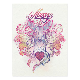 "Harry Potter | ""Always"" Doe Patronus Postcard"