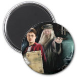 Harry Potter and Dumbledore 6 Cm Round Magnet