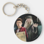 Harry Potter and Dumbledore Basic Round Button Key Ring