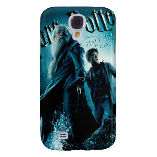 Harry Potter and Dumbledore on rocks 1 Galaxy S4 Case