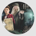 Harry Potter and Dumbledore Round Sticker