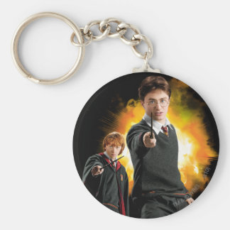Harry Potter and Ron Weasely Basic Round Button Key Ring