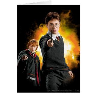 Harry Potter and Ron Weasely Greeting Card