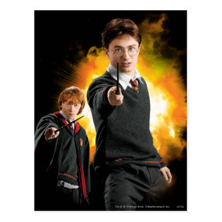Harry Potter and Ron Weasely Postcard