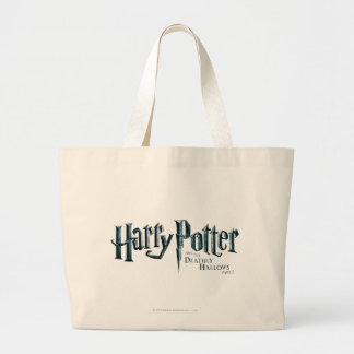 Harry Potter and the Deathly Hallows Logo 1 2 Jumbo Tote Bag