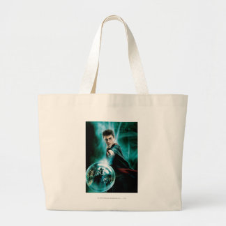 Harry Potter and Voldemort Only One Can Survive Large Tote Bag