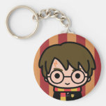 Harry Potter Cartoon Character Art Basic Round Button Key Ring